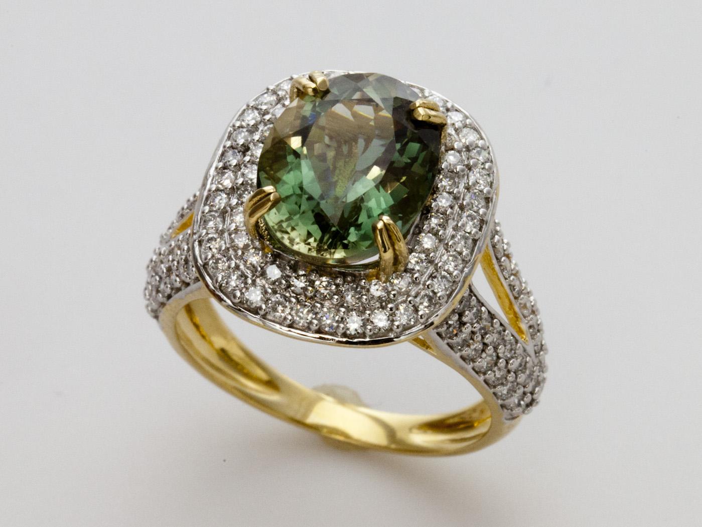 green sunstone gold ring with diamonds. Black Bedroom Furniture Sets. Home Design Ideas