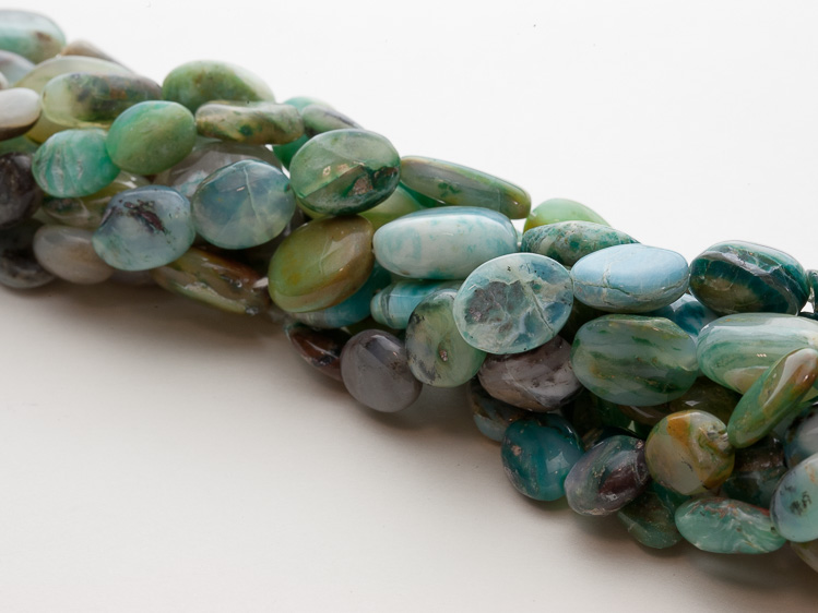 90ct Multi-Colored Green Opal Ovals B25