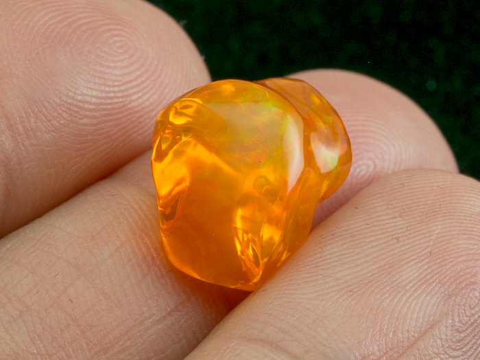 6.85 Ct Sparkling Natural Mexican Reddish Fire Opal Freeform Shapes Gem Stone